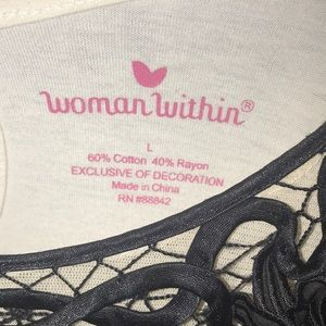 Woman Within Tops - Woman Within Blouse  Large